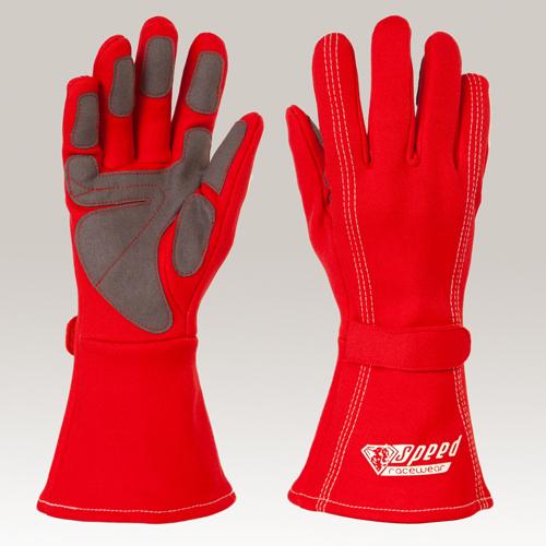 GRIP Kart Handschuhe Größe 2 rot