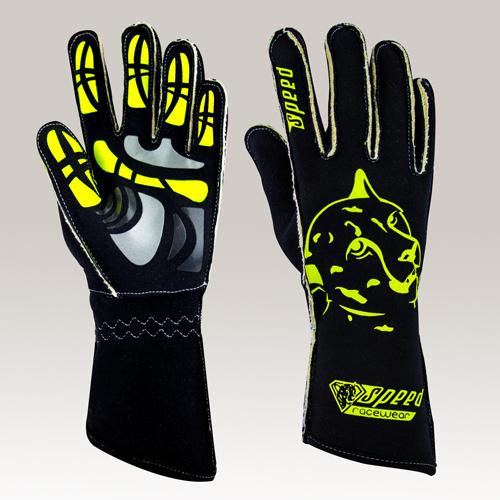 8 blau GRIP Kart Handschuhe Größe S