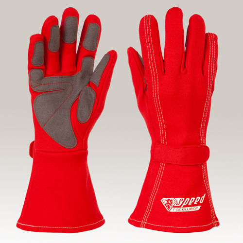 Speed F1 AUCKLAND Style Kart Handschuhe rot